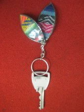 KEYHOLDER WITH COCA LEAF